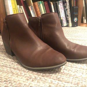 Espirit Brown Booties-never worn